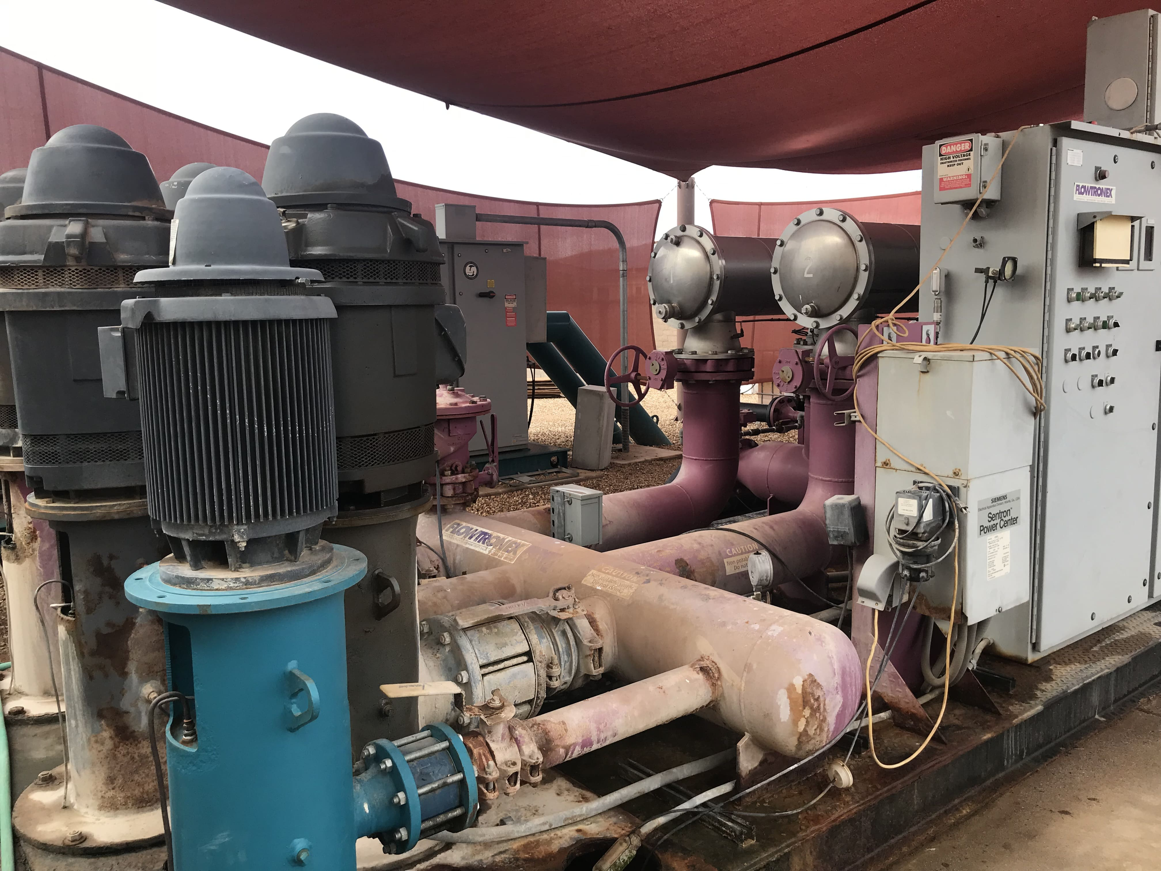 Water Pumps Flowing Smoothly
